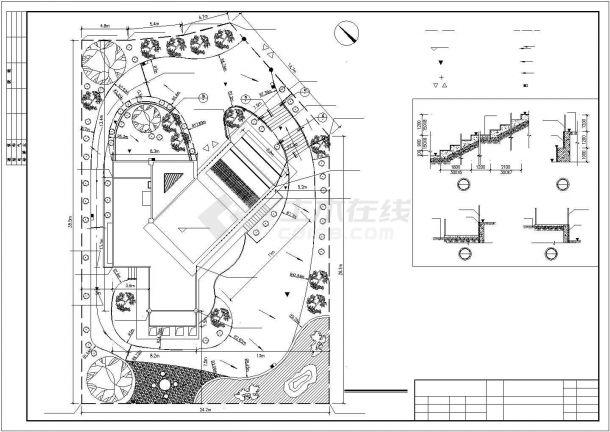 太原市某村镇420平米三层砖混结构欧式风格民居楼建筑设计CAD图纸-图二