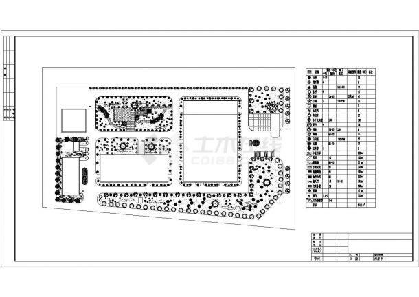 医院设计_某医院景观植物配置CAD图-图一