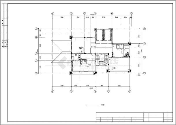 南京市某村镇730平米三层砖混结构独栋现代化别墅全套建筑设计CAD图纸-图一