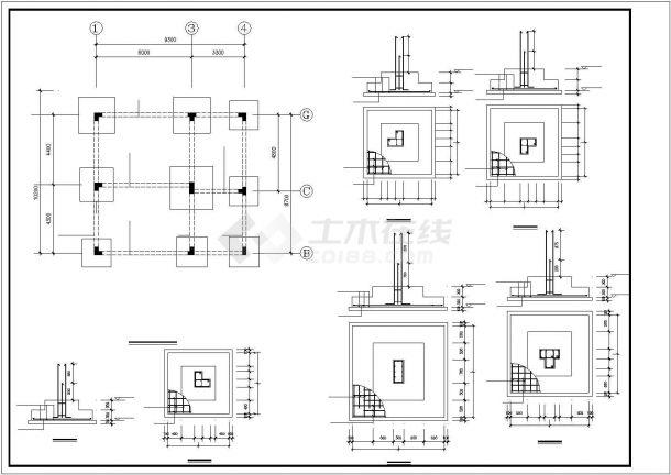 苏州市阳澄湖地区某村镇3层砖混结构别墅楼建筑设计CAD图纸(含结构图)-图一