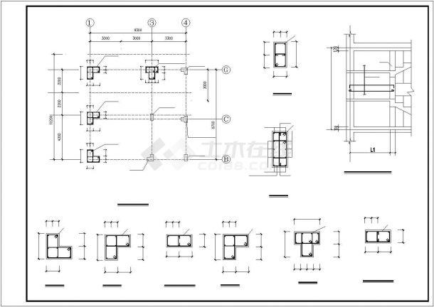 苏州市阳澄湖地区某村镇3层砖混结构别墅楼建筑设计CAD图纸(含结构图)-图二