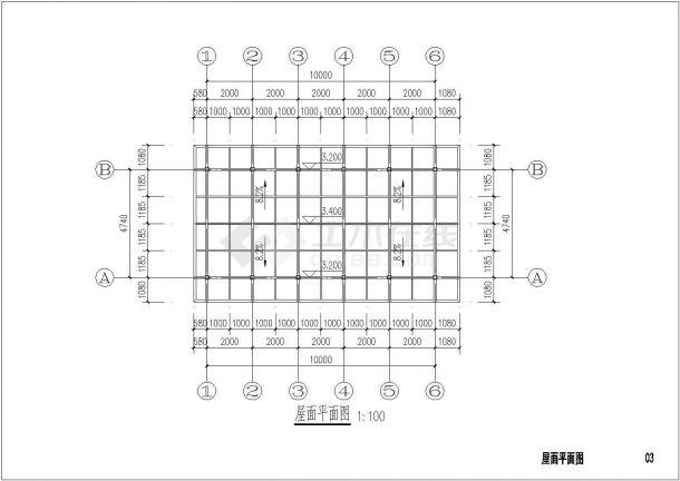 某地农庄室外阳光房设计cad全套建筑施工图(含结构设计)-图一