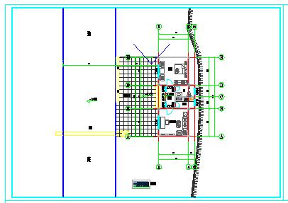 小型路政检查点、公安厅检查站门卫施工图-钢筋混凝土结构cad施工图纸,坡屋面。-图二
