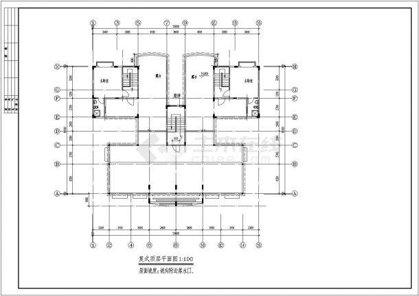 某城市秋实小区7层复式住宅楼bob电竞app设计施工图(含平立剖)-图一