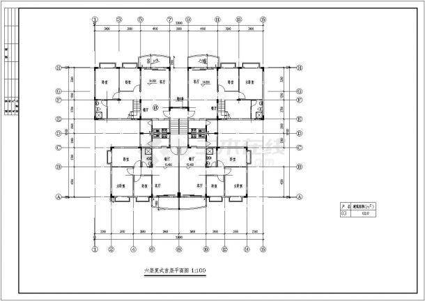 某城市秋实小区7层复式住宅楼bob电竞app设计施工图(含平立剖)-图二