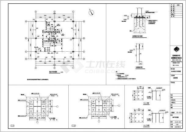 汕尾型钢框架结构CAD大样构造节点图-图二