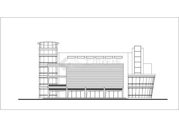 济宁市某商业街4层商业综合楼立面设计CAD图纸(含总平面图)-图一