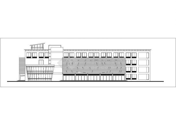 济宁市某商业街4层商业综合楼立面设计CAD图纸(含总平面图)-图二