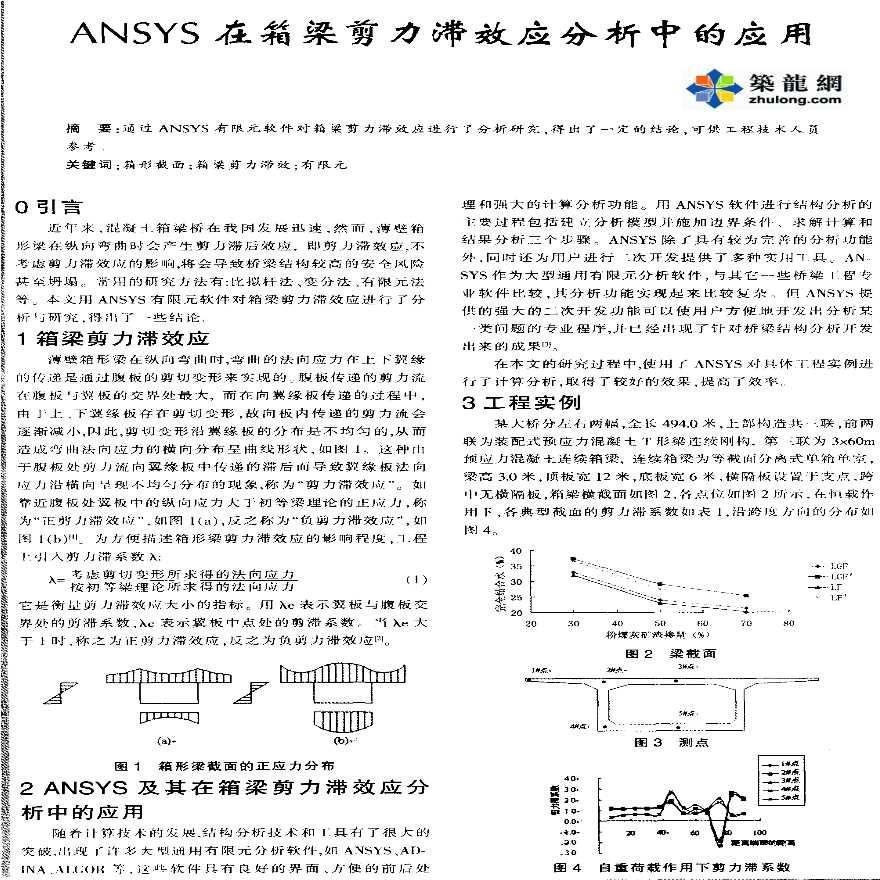 ANSYS在箱梁剪力滞效应分析中的应用-图一