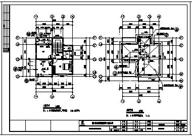 别墅设计_某三层砖混结构坡屋顶单家独院式别墅建筑施工cad图,含效果图-图一