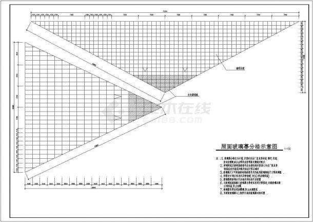 大棚设计_局部二层海珍品养殖大棚建筑施工图设计CAD图-图一