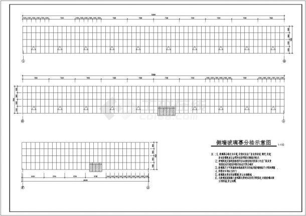 大棚设计_局部二层海珍品养殖大棚建筑施工图设计CAD图-图二