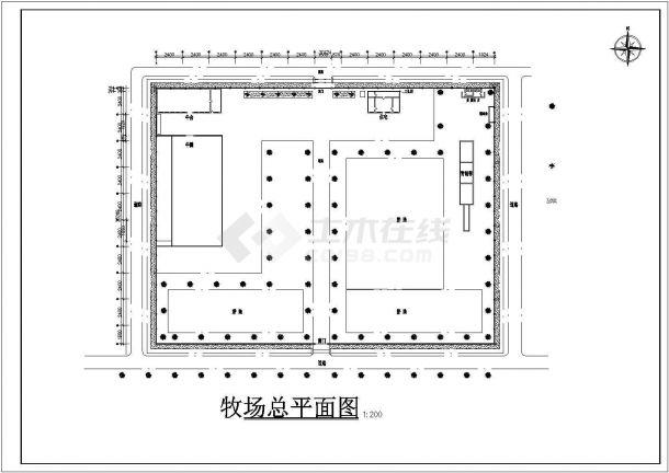牧场设计_牧场建筑施工图设计CAD图-图一