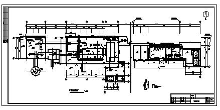 某县供热点集中供热锅炉房扩建工程施工cad图_供热锅炉房施工-图二
