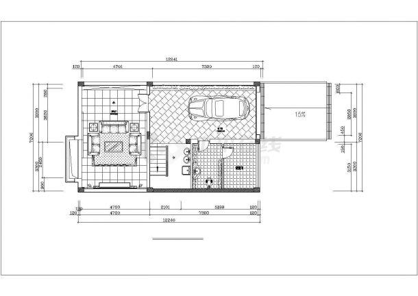 延安市宝塔区某村镇4层砖混结构别墅楼全套装修装饰设计CAD图纸-图一