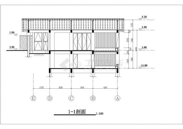 佛山市查家村某单层砖混结构民居住宅楼建筑设计CAD图纸(含地下室)-图一