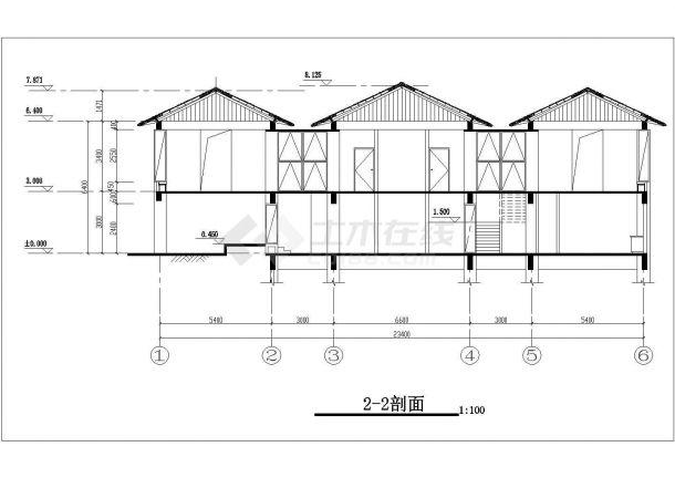 佛山市查家村某单层砖混结构民居住宅楼建筑设计CAD图纸(含地下室)-图二