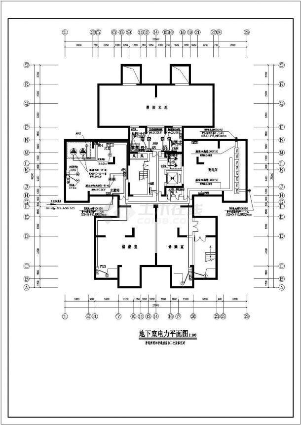某18层综合办公楼电气设计图纸-图一