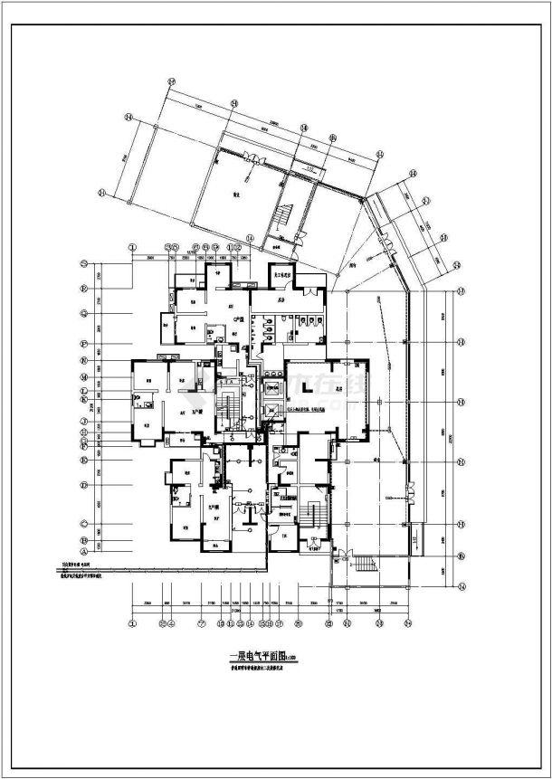某18层综合办公楼电气设计图纸-图二