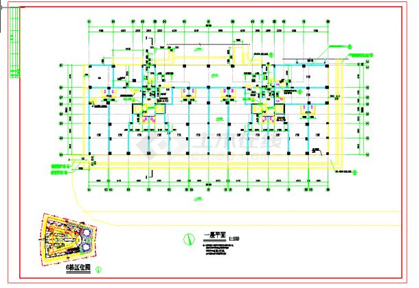 某地多层住宅施工建筑设计图纸cad-图一