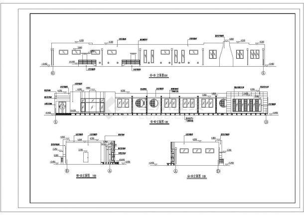 西安市某村镇390平米单层砖混结构联排别墅住宅楼建筑设计CAD图纸-图一