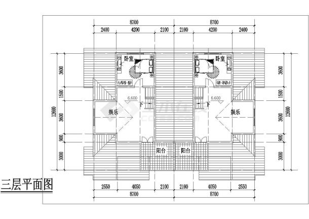 西安市张家村某270平米三层砖混结构单体别墅平面设计CAD图纸-图一