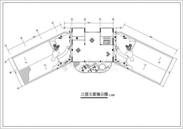 台州市某CBD区域写字办公楼室内装修设计cad施工图-图一