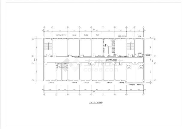某地三层消防站电气设计强弱电全套设计图纸-图二
