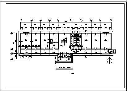 某三层公司办公楼全套建筑施工cad图_办公楼施工-图一