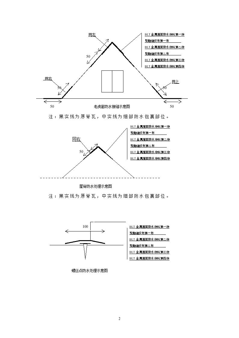 钢结构屋面防水工程施工方案设计-图二