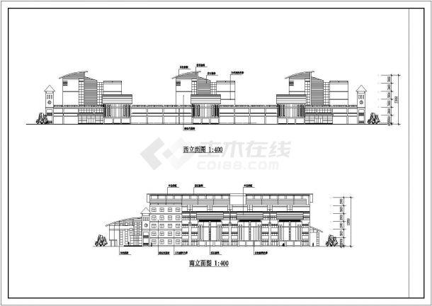 某城市总建筑面积37000多平米大教室教学楼建筑施工设计CAD图(含平立剖)-图一