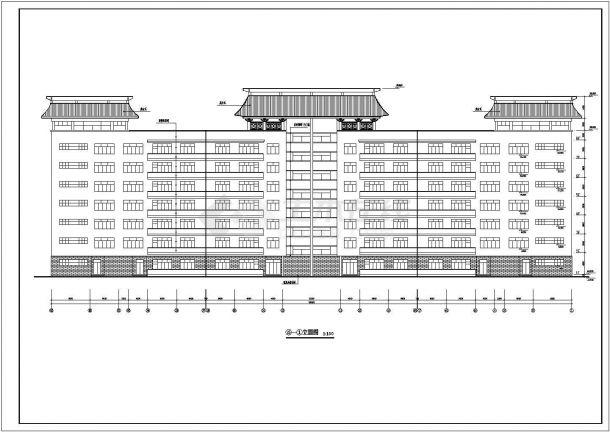 某城市实验小学七层钢筋混凝土结构教学楼建筑施工设计CAD图(含装修构造表、大样)-图一