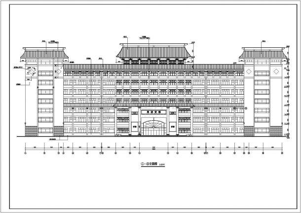 某城市实验小学七层钢筋混凝土结构教学楼建筑施工设计CAD图(含装修构造表、大样)-图二