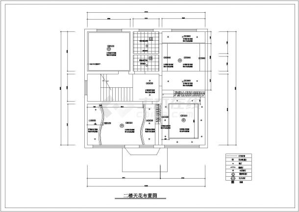 潍坊市长中村某2层砖混结构私人别墅全套装修装饰设计CAD图纸-图一