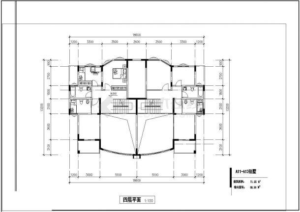 武汉市越秀新村某4层砖混结构单体别墅全套建筑设计CAD图纸-图二