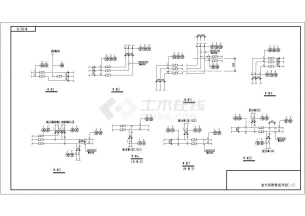 供热设计_某小区供热外线设计CAD图-图一