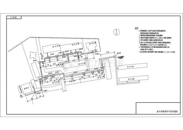 供热设计_某小区供热外线设计CAD图-图二