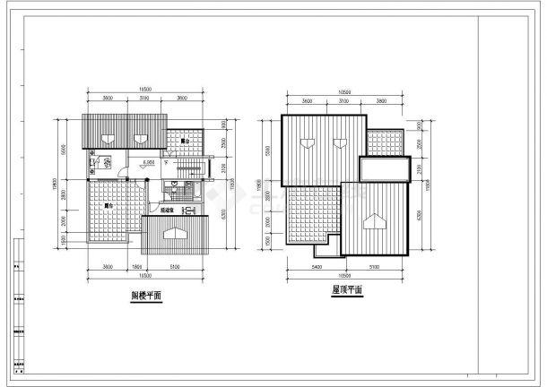 经典的2层砖混结构单体乡村别墅建筑设计CAD图纸(带阁楼/11套方案)-图二
