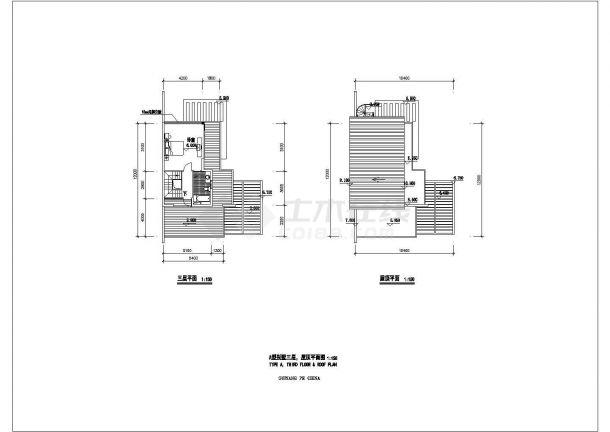 苏州市某别墅区3层框混结构私人单体别墅建筑设计CAD图纸(4套方案)-图一