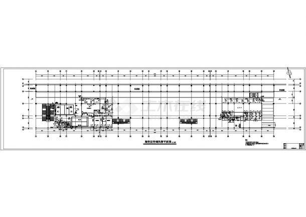 空调设计_某铁路工程空调CAD图纸-图一