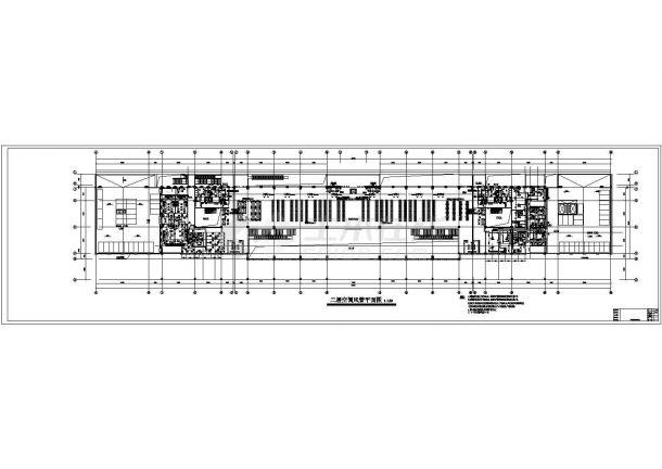空调设计_某铁路工程空调CAD图纸-图二
