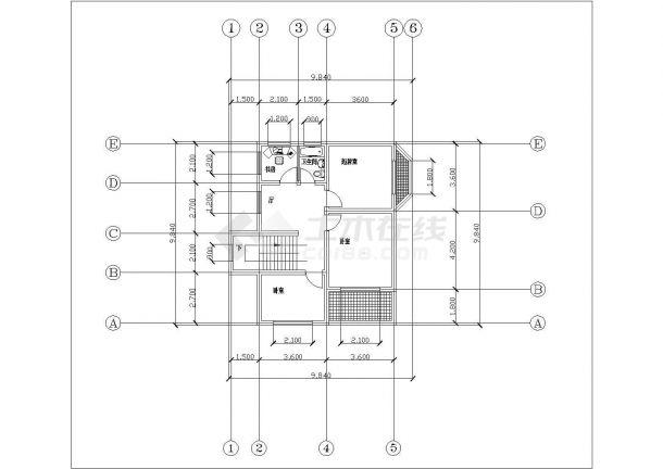 贵阳市某村镇160平米2层砖混结构别墅式乡村住宅楼平立面设计CAD图纸-图一