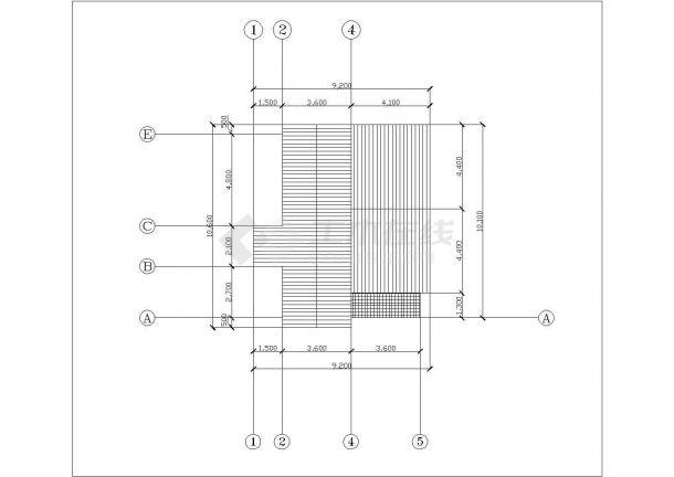 贵阳市某村镇160平米2层砖混结构别墅式乡村住宅楼平立面设计CAD图纸-图二