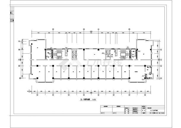 某机关高层办公楼给排水毕业设计施工图-图一