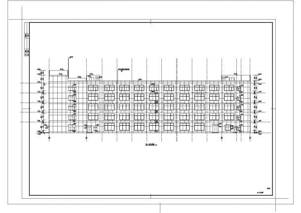 5层13501平米L形框架结构厂房建筑设计施工图-图一
