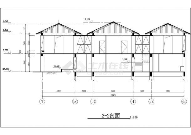 保定市某避暑山庄单层砖混结构单体别墅建筑设计CAD图纸(含地下室)-图一