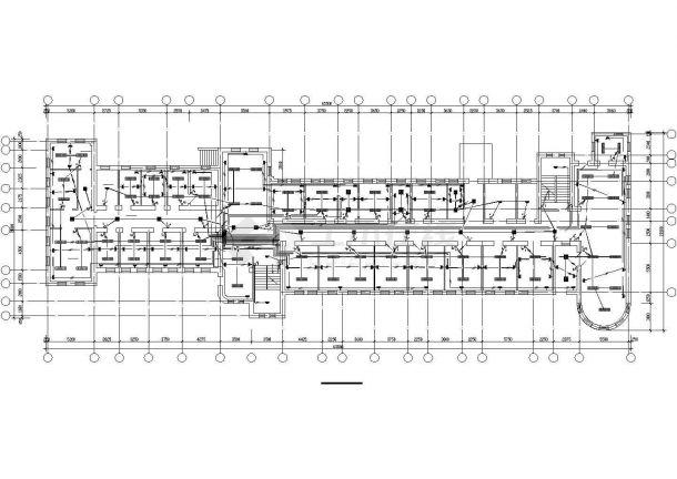 石家庄市某医院3层门诊楼电气系统CAD设计图纸-图二