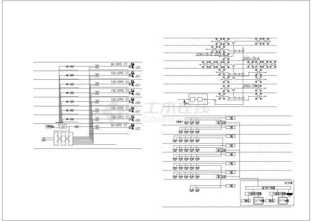1.2万平米7层框架结构门诊楼全套电气CAD设计图纸-图一