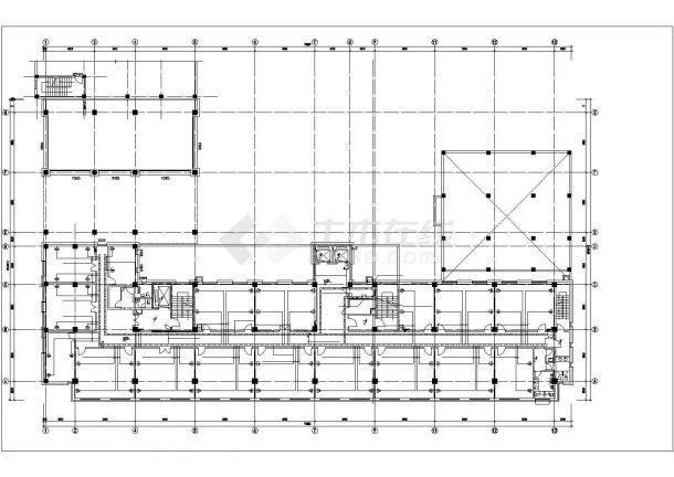 1.2万平米7层框架结构门诊楼全套电气CAD设计图纸-图二