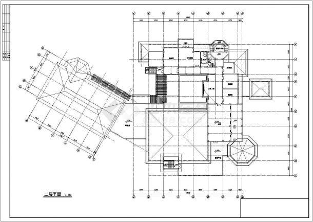 某地区地下1地上2层会所建筑设计方案图-图一